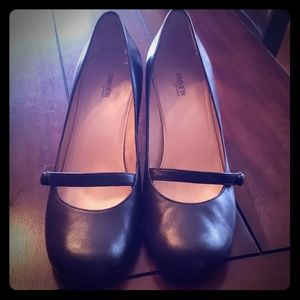 Adorable and comfortable black mary Jane heels.